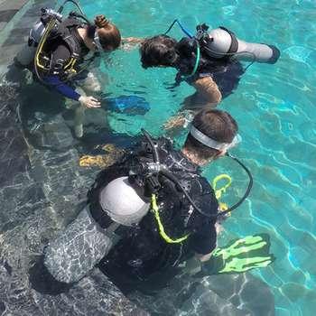 trying breathing underwater