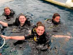 Happy divers with Terumbu divers