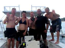 Group of divers with a 5 star dive center in Lombok