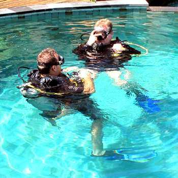 piscine du cours scuba divers