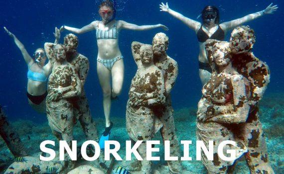 snorkeling in the nest, gili meno