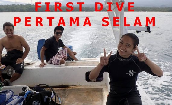 After her first dive